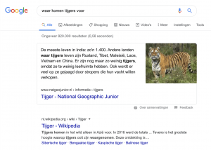featured snippet leeuw